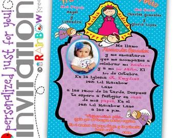174: DIY - Virgencita Plis Party Invitation Or Thank You Card