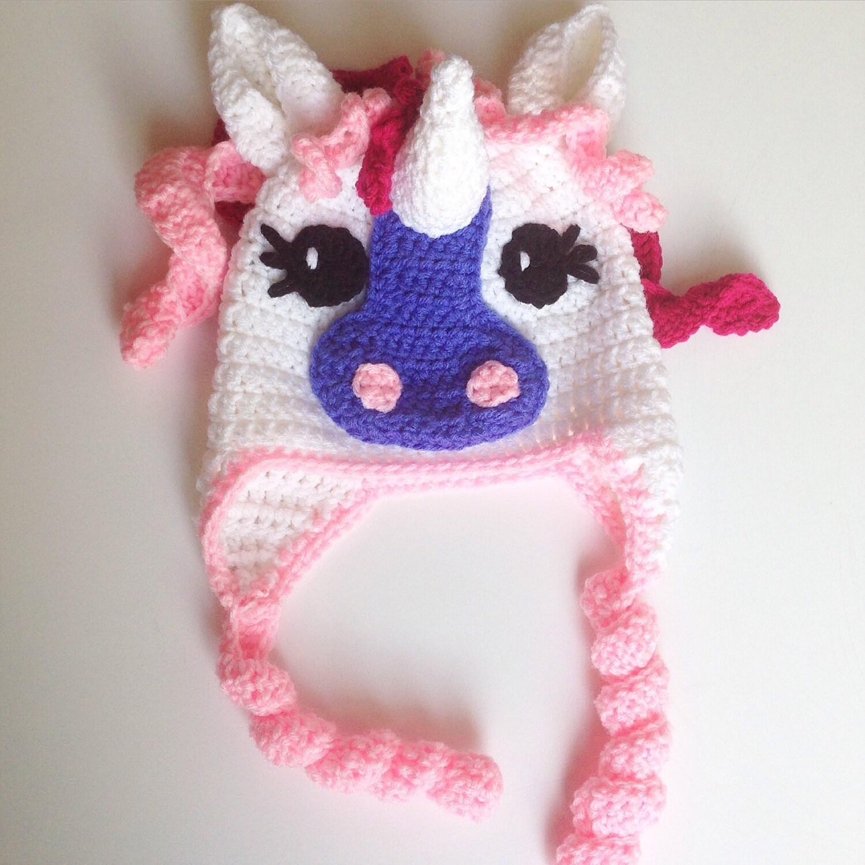 Little Pony Crochet Hat Unicorn Hat by TheFriendlyRedFox on Etsy