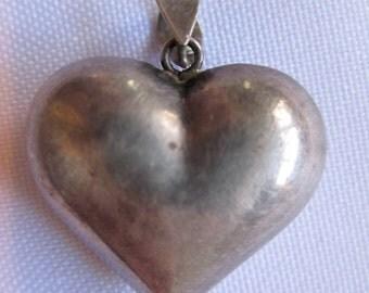 VTG 925 Silver Small Heart Pendant Charm