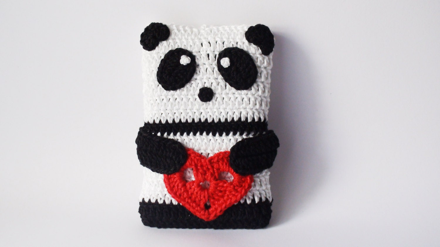 PANDA Crochet Phone Cozy Valentines Day Gift Ideas