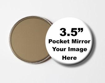 "3.5"" pocket mirror,large pocket mirror,custom pocket mirror,bridesmaid gift,bridesmaid pocket mirror,personalize pocket mirror"