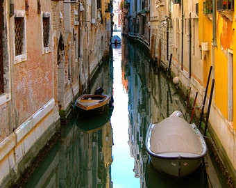 Venice Reflections - Digital Photography, Venice Photography, Venice Art, Venice Canal, Venice, Italy Travel Art, Venice Decor, Italy Photo