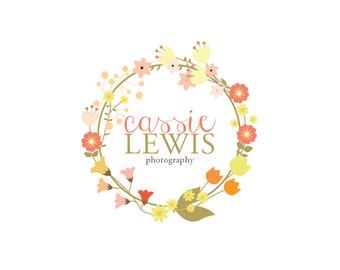 Photography Logo Design -  pre made- personalized - vector files included.