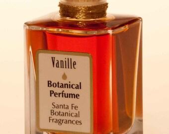 VANILLE NATURAL Perfume Santa Fe Botanical Fragrances Vanilla & rich Cocoa- Black Currant Bud - Jasmine -Vintage Sandalwood