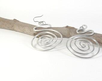 Aluminium earrings. Gift for her. Boho earrings women Boho jewelry