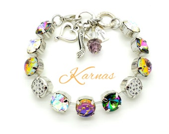 GIRL'S NIGHT Out 47ss 10mm Bracelet Swarovski Elements and Opal Cabochons *Pick Your Finish *Karnas Design Studio *Free Shipping*