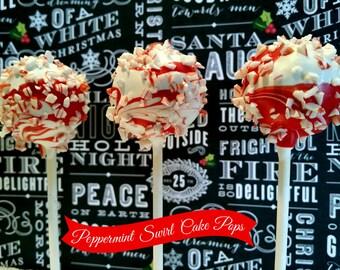 PEPPERMINT SWIRL cake pops