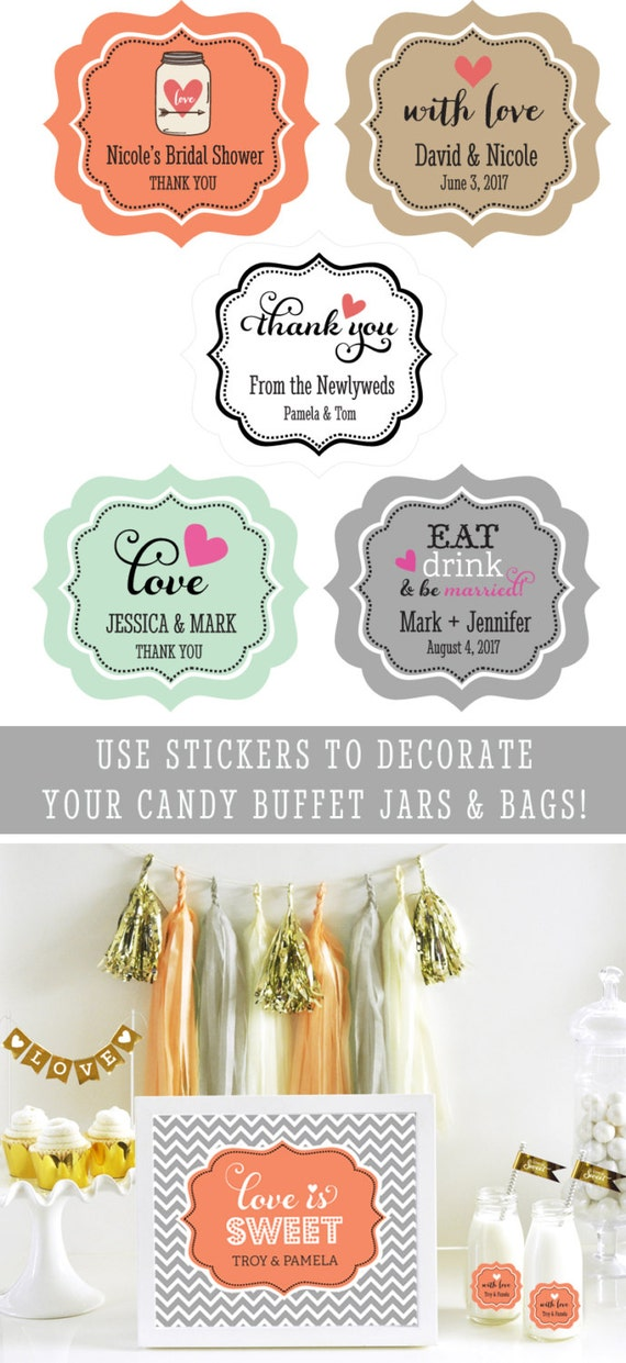 personalized favor stickers personalized favor labels personalized