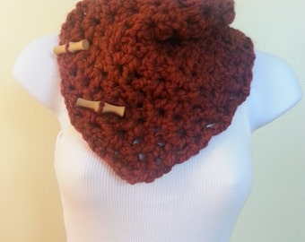 Chunky neckwarmer - rust