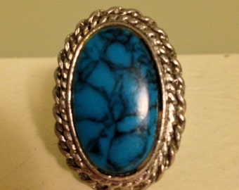 Vintage 70s ring withTurquoise colored Stone