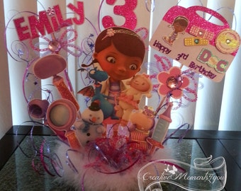 Doc McStuffins Birthday Cake Topper personalized