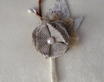 Rustic Boutonniere, Boutonniere, Wedding Boutonniere, Wedding Boutineer, Buttonhole, groom, groomsmen, Boutineer