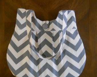 BEST SELLER! Gray chevron purse with mustard dot, clutch, wallet options can be added