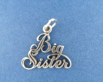 BIG SISTER Charm .925 Sterling Silver