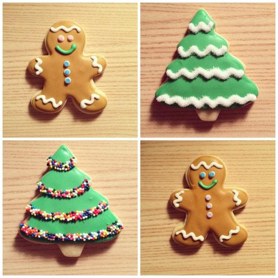Christmas Tree Decorated Cookies: Items Similar To Gingerbread Men/Christmas Tree Decorated