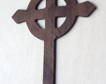 Celtic Cross Bookmark made from walnut