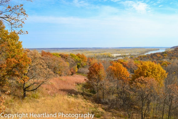 Large Fall Print, Autumn Landscape, Nature Photography, Nebraska Art, Midwest Images, Fall Colors, Seasonal Color, Fine Art Photography