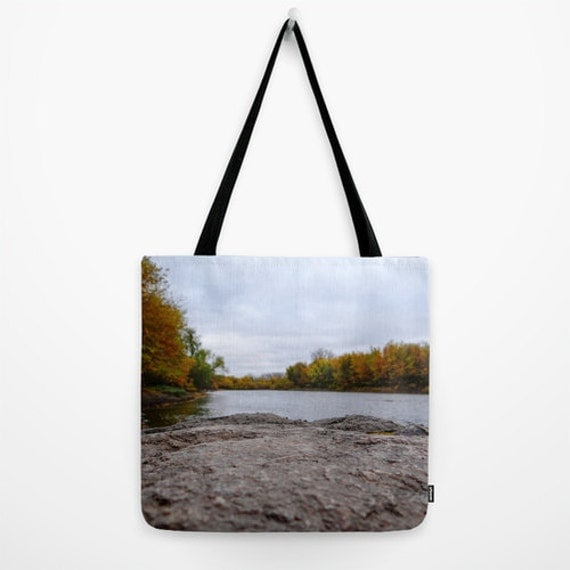 Minnesota Art, Small Purse, Large Bag, Hiking Gear, Boundary Waters, Landscape Photo, Fall Colors, Autumn Trees, Lake Images, Unique Photo