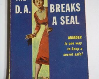 The DA Breaks a Seal by Erle Stanley Gardner Pocket Books #869 1952 Vintage Mystery Paperback