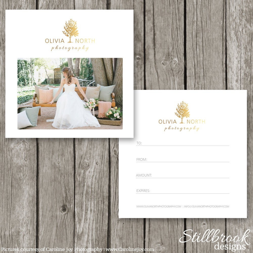gift certificate photography gift certificate template gift card template for photographers flyer voucher card photoshop marketing design gc08