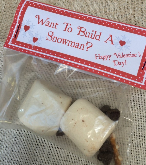 """Olaf """"Want to Build A Snowman"""" Kids Valentine's Bag Tags - Printable ..."""