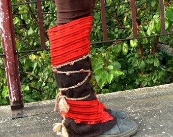 Boot Covers, Boho Spats, Leg Warmers, Hippie Leg Warmers, Cosplay Gaiters, Spatterdashes, Peasant Spats