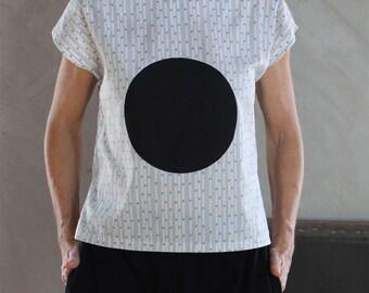 Big Black Dot Handmade Cotton Top