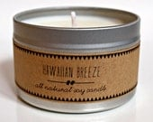 HAWAIIAN BREEZE //  Soy Candle. Natural Candle. Scented Candle. Eco Friendly. Vegan Friendly. Gift for Him. Gift for Her.