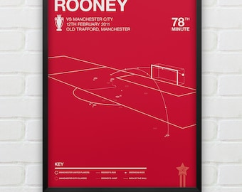 Manchester United - Wayne Rooney vs Man City Giclee Print -- [59]
