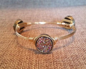 Good As Gold -- Gold Druzy Stone Bangle