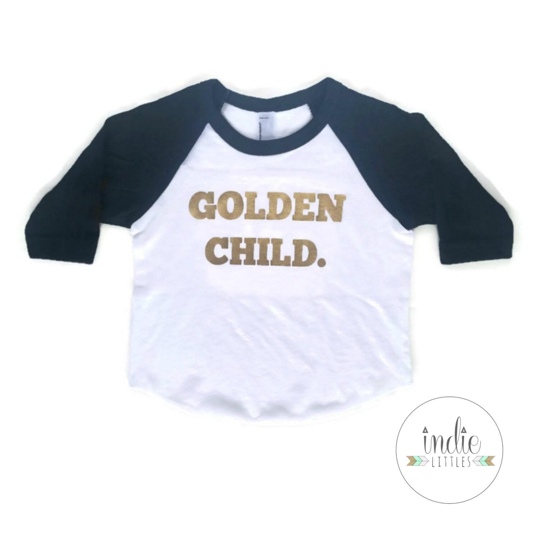 Golden child raglan graphic tee shirt baby kids graphic tees for Graphic t shirts for kids