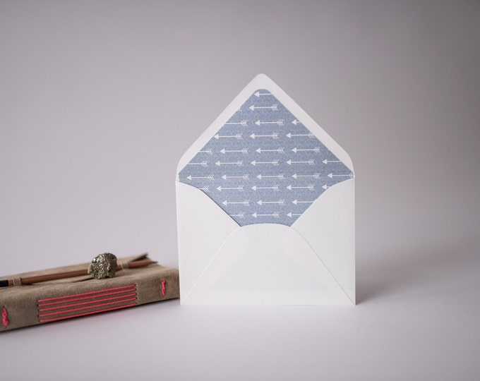 arrows lined envelopes (10 color options) - sets of 10
