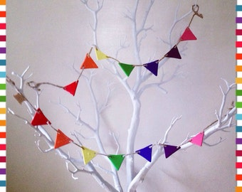 Rainbow Bunting, Mini Clay Bunting