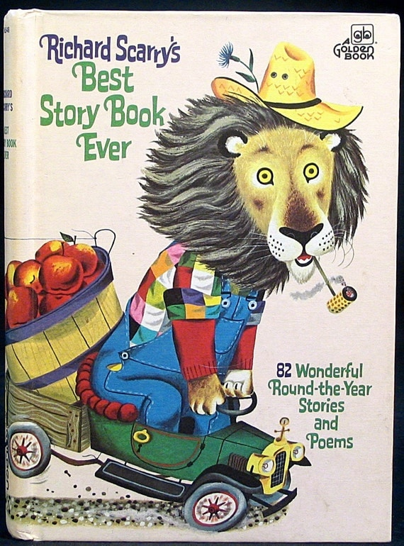Richard scarry 39 s best story book ever golden book color for Richard scarry coloring pages