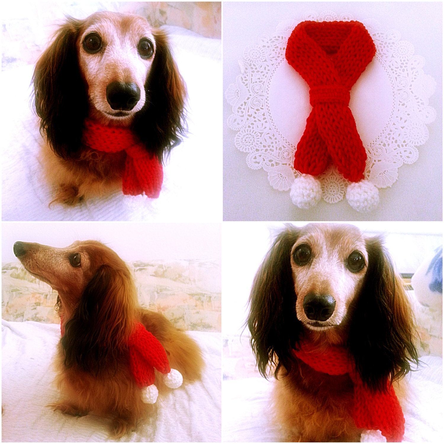 Dog Scarf Christmas Dog Collar Dog Bandana Dog Cowl