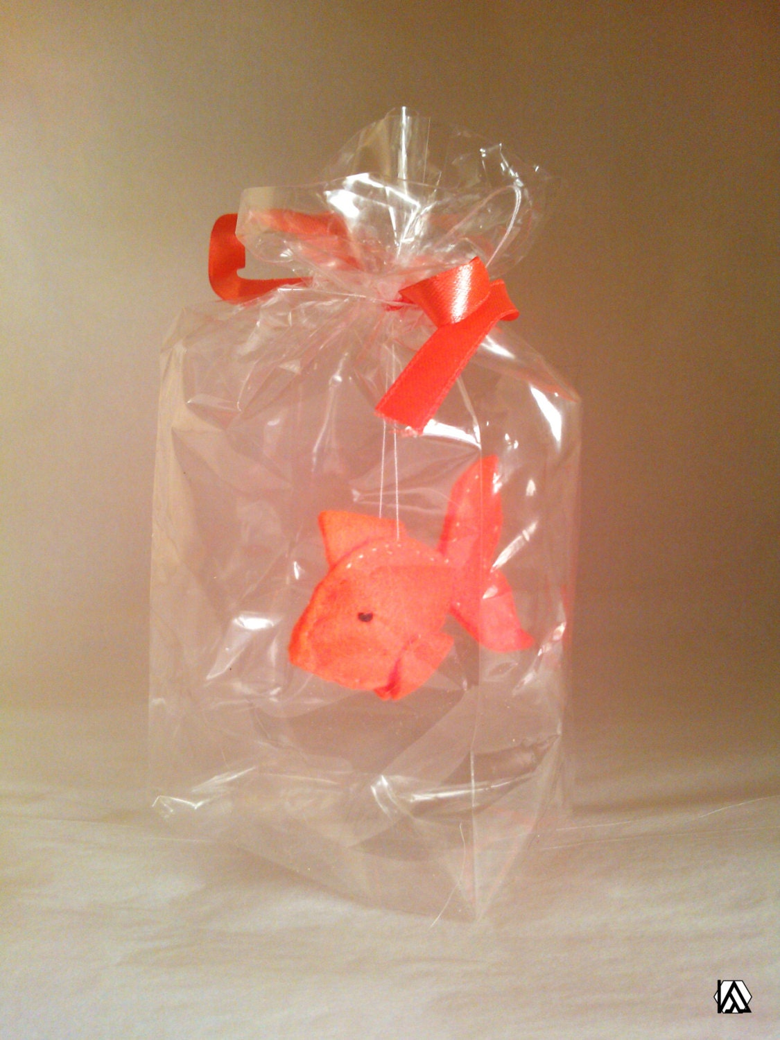 Orange spiky fish the ultimate pet fish in a bag vegan for Fish in a bag