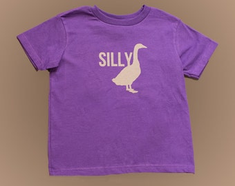 SILLY GOOSE- PURPLE- Childrens shirt.