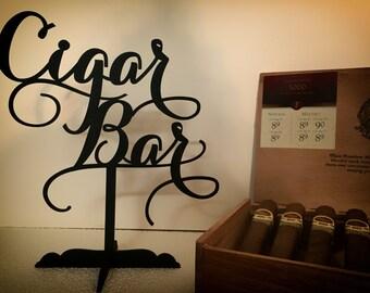 Cigar Bar Sign, Cigar Bar Sign Wedding, Wedding Cigar Bar, Cigar Lounge Sign, Cigar Decor, Rustic Bar Signs