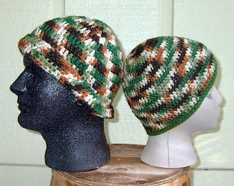 Hats for Couples , Men's & Women's Matching  Earthy Tones Beanie Hats