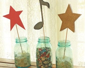 Twinkle Little Star Centerpieces - Rock Star Centerpiece Stakes - Twinkle Little Star Shower - Twinkle Little Star Party