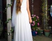Boho Bridal Veil  Bridal Veil  Boho Headpiece Boho Wedding Veil  Beaded Bridal Veil  Boho Hair Piece