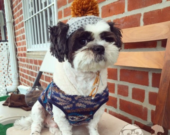 Crochet Shih Tzu Doggy Hat
