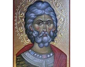 Saint Menas, hand painted orthodox icon, sacred icons, icon writing, Byzantine  icon, orthodox icon, iconart, orthodox gift, iconography
