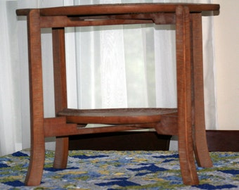 Carved Wood Tray Table #102614J