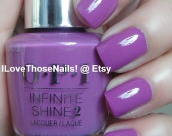 Opi Gel Effects Infinite Shine ~ Grapely Admired, Base & Top Coat ~ Long wear! Nail Polish No uv light needed EASY INSTRUCTIONS INCLUDED