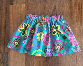 On sale Fine floral corduroy skirt, toddler skirt, spring skirt, summer skirt, party skirt, fun skirt, made to order