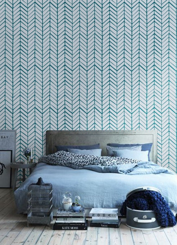 Self adhesive vinyl wallpaper chevron pattern print by betapet - Papier vinyl adhesif ...
