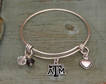Texas A&M Aggies Memory Wire Bracelet