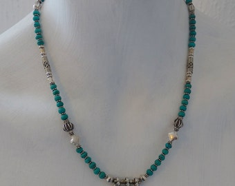 Turquoise Necklace, Amazonite Necklace, Amethyst Necklace, Lapis Necklace, Sterling Silver Necklace