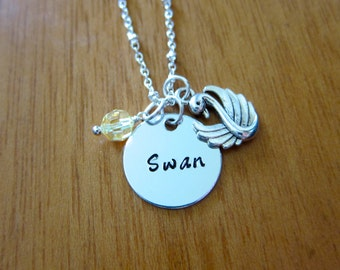 Once Upon A time Inspired Necklace. Swan necklace. Once necklace. Silver colored. Swarovski Elements. *